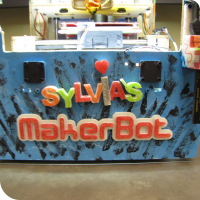 The front of Sylvia's Makerbot