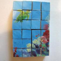 A turtle storybook block puzzle assembled